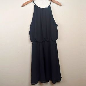 Black Sleeveless Dress with Lining